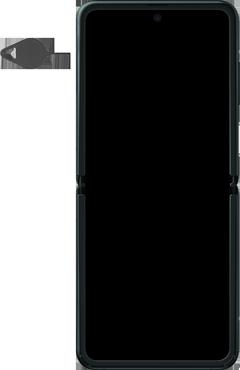 Samsung Galaxy Z Flip Single-SIM + eSIM (SM-F700F) - Instellingen aanpassen - SIM-Kaart plaatsen - Stap 2