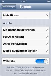 Apple iPhone 4S - Anrufe - Rufumleitungen setzen und löschen - Schritt 4