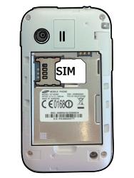 Samsung S5360 Galaxy Y - SIM-Karte - Einlegen - Schritt 3