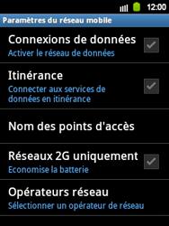 Samsung Galaxy Y - Internet et roaming de données - Configuration manuelle - Étape 6