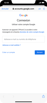 Apple iPhone XS Max - iOS 13 - E-mail - 032a. Email wizard - Gmail - Étape 7