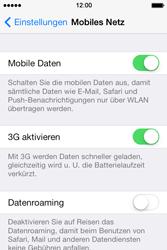 Apple iPhone 4S iOS 7 - Internet und Datenroaming - Deaktivieren von Datenroaming - Schritt 5
