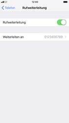 Apple iPhone 7 - iOS 12 - Anrufe - Rufumleitungen setzen und löschen - Schritt 8