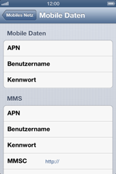 Apple iPhone 4S - Internet - Manuelle Konfiguration - Schritt 7