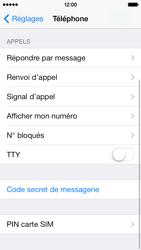 Apple iPhone 5 - Sécuriser votre mobile - Personnaliser le code PIN de votre carte SIM - Étape 4