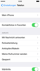 Apple iPhone 5S mit iOS 8 - Anrufe - Rufumleitungen setzen und löschen - Schritt 4