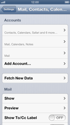 Apple iPhone 5 - E-mail - manual configuration - Step 8
