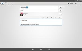 Sony Xperia Tablet Z2 (SGP521) - E-mail - e-mail versturen - Stap 13