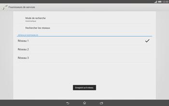 Sony Xperia Tablet Z2 LTE - Réseau - Sélection manuelle du réseau - Étape 10