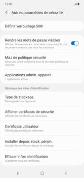 Samsung Galaxy Note 10+ - Sécuriser votre mobile - Personnaliser le code PIN de votre carte SIM - Étape 6
