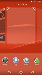 Sony Xperia Z3 - Operazioni iniziali - Installazione di widget e applicazioni nella schermata iniziale - Fase 4
