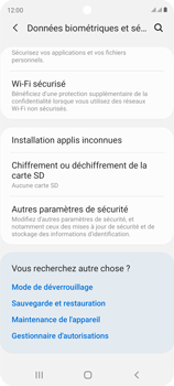 Samsung Galaxy S20 FE - Sécuriser votre mobile - Personnaliser le code PIN de votre carte SIM - Étape 5