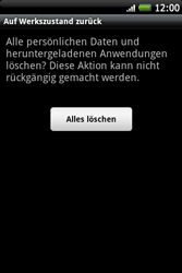 HTC Wildfire S - Fehlerbehebung - Handy zurücksetzen - 9 / 10