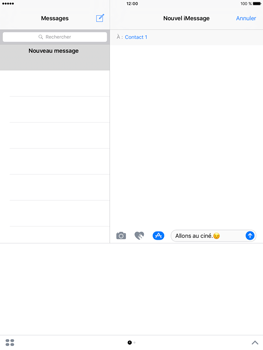 Apple iPad Pro 9.7 - iOS 10 - iOS features - Envoyer un iMessage - Étape 16