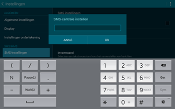 Samsung Galaxy Tab S 10.5 4G (SM-T805) - SMS - Handmatig instellen - Stap 8