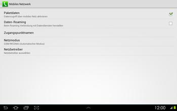 Samsung Galaxy Tab 2 10-1 - Internet - Manuelle Konfiguration - 7 / 25