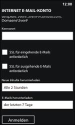 Nokia Lumia 800 / Lumia 900 - E-Mail - Manuelle Konfiguration - Schritt 16