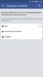 Samsung Galaxy S7 - Datenschutz und Sicherheit - Datenschutzeinstellungen von Facebook ändern - 31 / 35