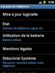 Samsung Galaxy Y - Logiciels - Installation de mises à jour - Étape 6