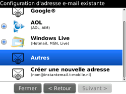 BlackBerry 9700 Bold - E-mail - Configuration manuelle - Étape 8