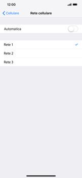 Apple iPhone XS Max - Rete - Selezione manuale della rete - Fase 8