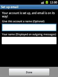Samsung Galaxy Y - E-mail - Manual configuration - Step 16