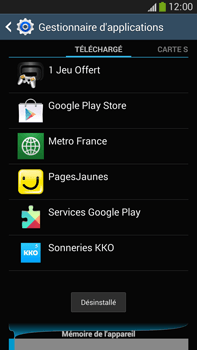 Samsung Galaxy Note III LTE - Applications - Comment désinstaller une application - Étape 9