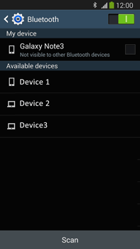 Samsung Galaxy Note III LTE - Bluetooth - Connecting devices - Step 6