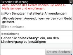 BlackBerry Bold Touch - Fehlerbehebung - Handy zurücksetzen - 11 / 13