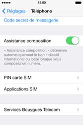 Apple iPhone 4 - Sécuriser votre mobile - Personnaliser le code PIN de votre carte SIM - Étape 4