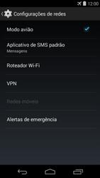 Motorola Moto E (1st Gen) (Kitkat) - Rede móvel - Como ativar e desativar o modo avião no seu aparelho - Etapa 6