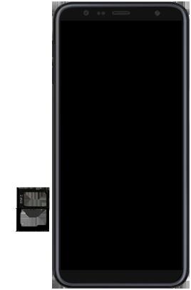 Samsung Galaxy J6 Plus - Toestel - simkaart plaatsen - Stap 8