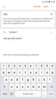 Samsung Samsung G928 Galaxy S6 Edge + (Android N) - E-mail - Sending emails - Step 9