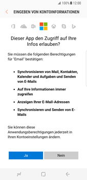 Samsung Galaxy S8 - E-Mail - Konto einrichten (outlook) - 2 / 2