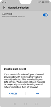 Huawei P20 - Android Pie - Network - Manual network selection - Step 7