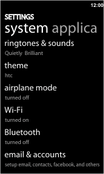 HTC 7 Trophy - bluetooth - aanzetten - stap 4
