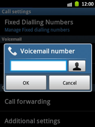 Samsung S5300 Galaxy Pocket - Voicemail - Manual configuration - Step 6