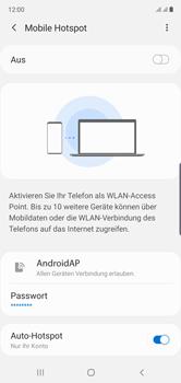 Samsung Galaxy Note 10 - WiFi - So aktivieren Sie einen WLAN-Hotspot - Schritt 7