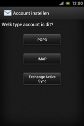 Sony ST23i Xperia Miro - e-mail - handmatig instellen - stap 6