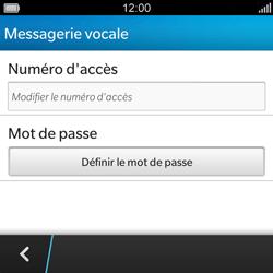 BlackBerry Q5 - Messagerie vocale - configuration manuelle - Étape 7
