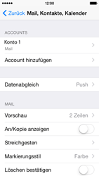 Apple iPhone 5C iOS 8 - E-Mail - Manuelle Konfiguration - Schritt 29