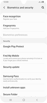 Samsung Galaxy A40 - Device - Enable Find my Phone - Step 5