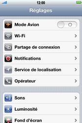 Apple iPhone 4 S - Réseau - Sélection manuelle du réseau - Étape 3