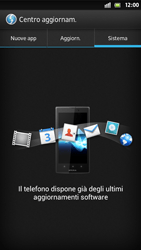 Sony Xperia S - Software - Installazione degli aggiornamenti software - Fase 8