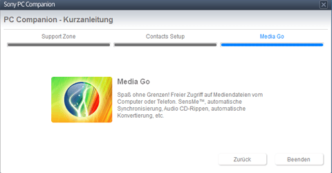 Sony Xperia J - Software - Installieren von Software zur PC-Synchronisierung - Schritt 9