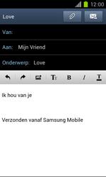 Samsung I9100 Galaxy S II met OS 4 ICS - e-mail - hoe te versturen - stap 11