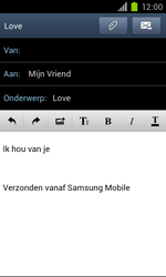 Samsung I9100 Galaxy S II - OS 4 ICS - E-mail - hoe te versturen - Stap 11