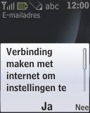 Nokia 2330 classic - e-mail - handmatig instellen - stap 11