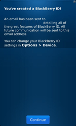 BlackBerry 9860 Torch - BlackBerry activation - BlackBerry ID activation - Step 10