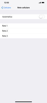 Apple iPhone XS Max - Rete - Selezione manuale della rete - Fase 7